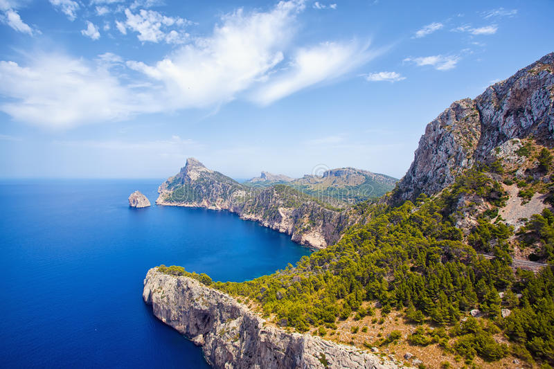 Kap Formentor, Mallorca stockbilder
