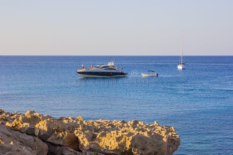 Kap Greco Zypern bei Sonnenuntergang lizenzfreies stockfoto