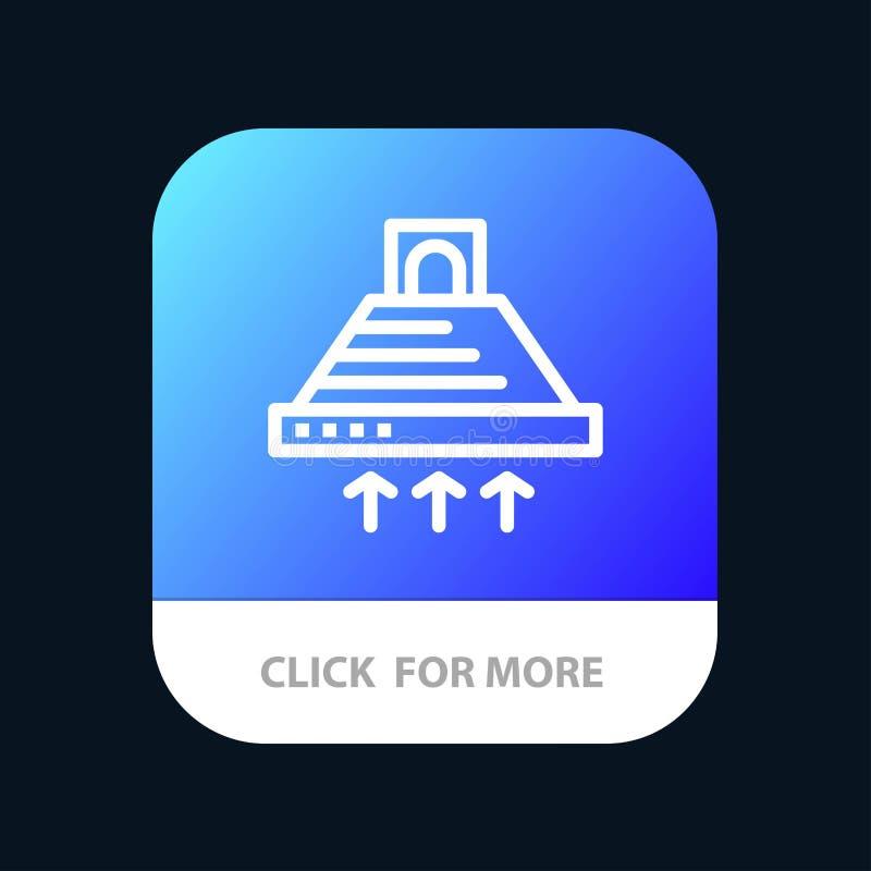 Kap, het Koken, Keuken, Uitlaat, de Knoop van de Rookmobiele toepassing Android en IOS Lijnversie vector illustratie