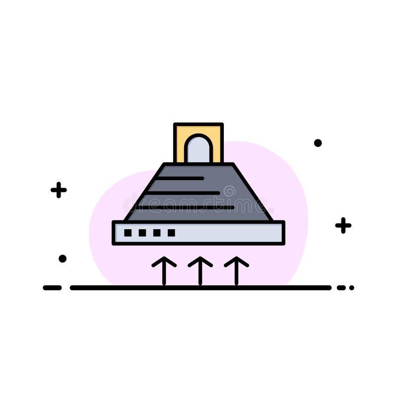Kap, het Koken, Keuken, Uitlaat, Rookzaken Logo Template vlakke kleur vector illustratie