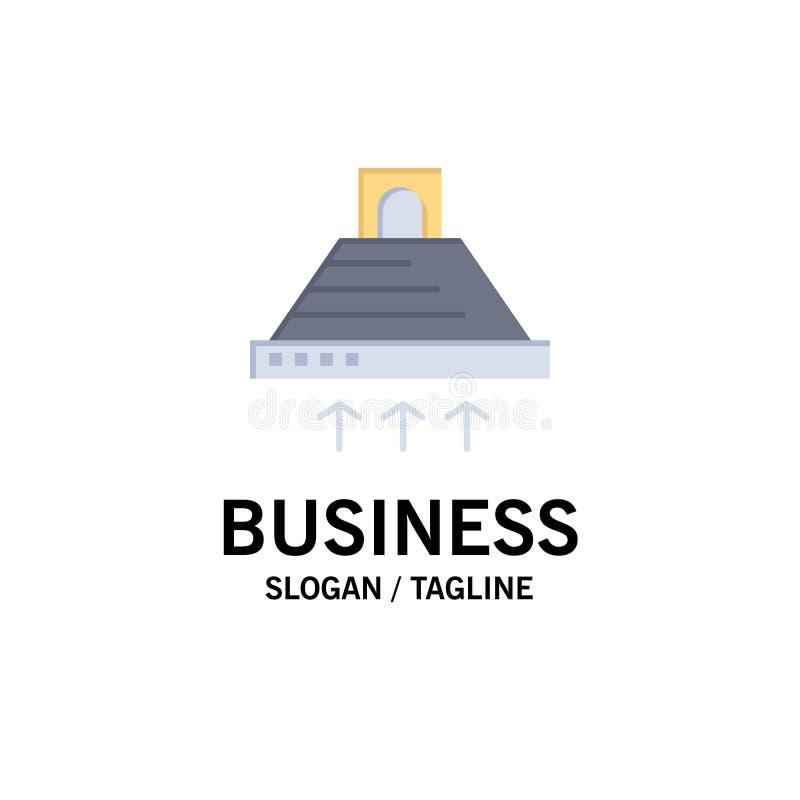 Kap, het Koken, Keuken, Uitlaat, Rookzaken Logo Template vlakke kleur royalty-vrije illustratie