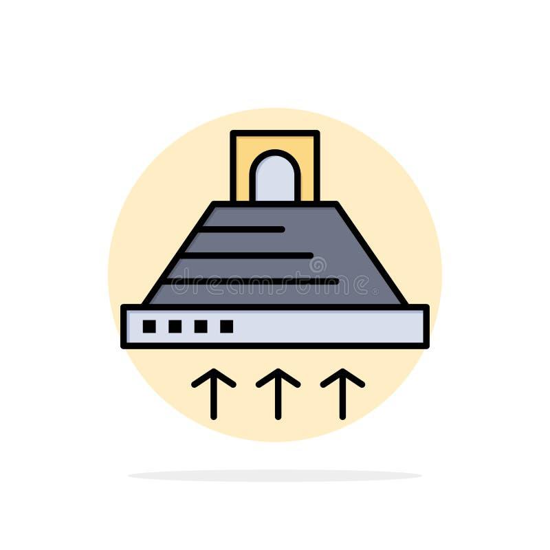Kap, het Koken, Keuken, Uitlaat, van de Achtergrond rook Abstract Cirkel Vlak kleurenpictogram vector illustratie