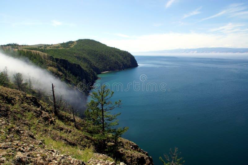 Kap Khoboy auf der Insel von Olkhon, der Baikalsee, Russland stockfotos