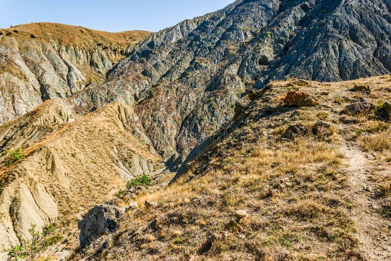 Am Kap Meganom in der Krim lizenzfreies stockfoto