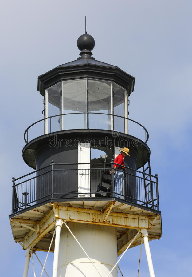 Kap San Blas Lighthouse Volunteer lizenzfreies stockfoto