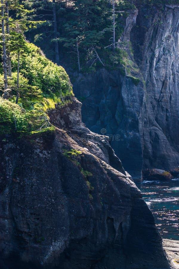 Kap-Schmeichelei auf Nord-Washington Coast lizenzfreies stockfoto