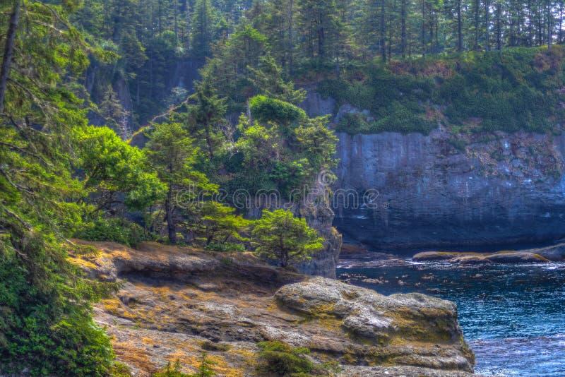 Kap-Schmeichelei auf Nord-Washington Coast stockfotos
