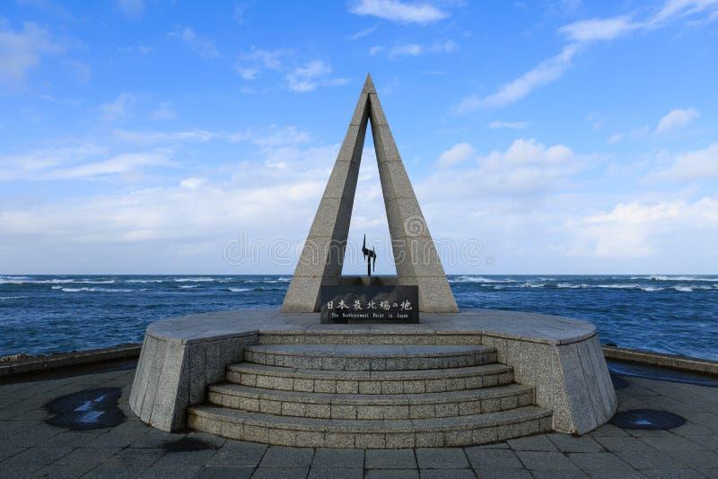 Kap-Soja, der nördlichste Punkt in Japan stockfotos