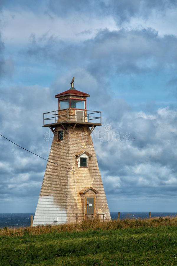 Kap Tryon-Leuchtturm in Insel Prinzen Edward stockfotos