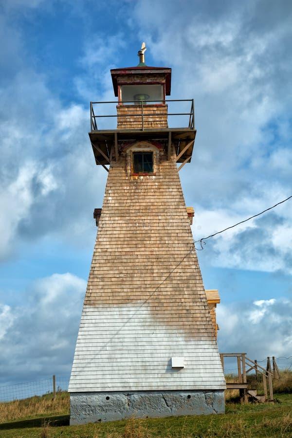 Kap Tryon-Leuchtturm in Insel Prinzen Edward stockfotografie