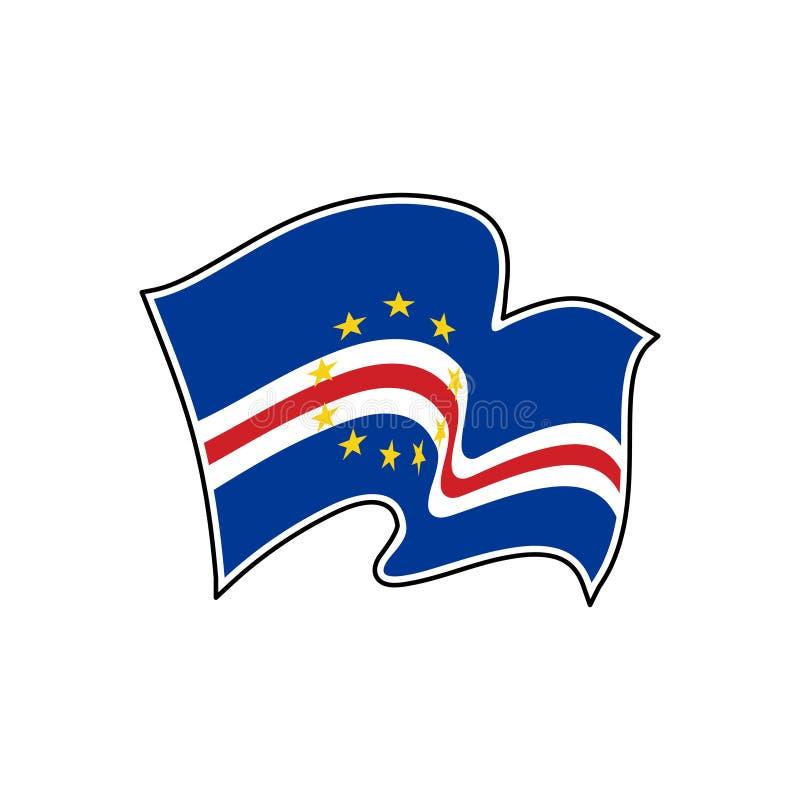 Kap Verdevektorflagga Nationellt symbol av Kap Verde royaltyfri illustrationer