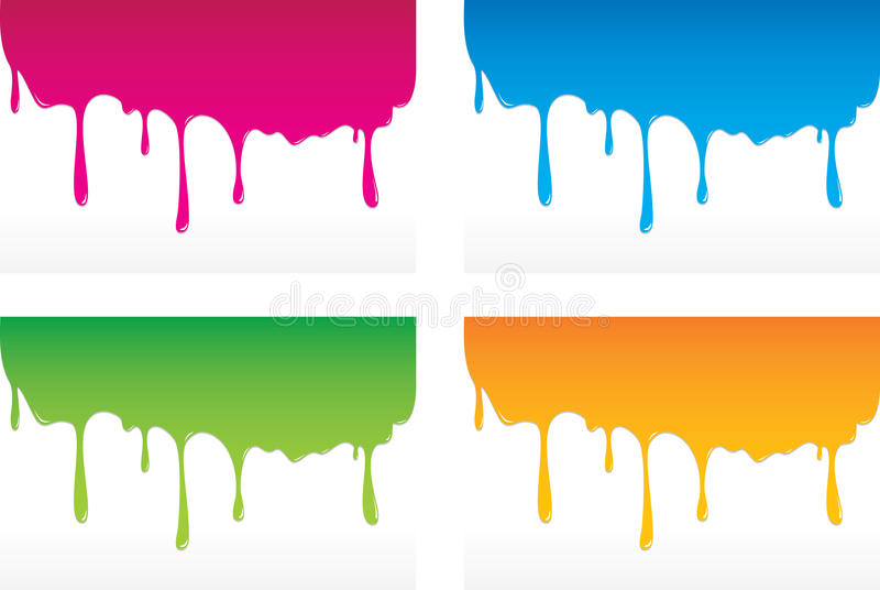 Kapać kolory ilustracja wektor