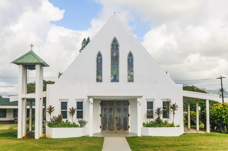 Kapaa, Кауаи, Гаваи - 10-ое мая - 2017: Церковь ` s первого Kapaa гаваиская стоковое изображение rf