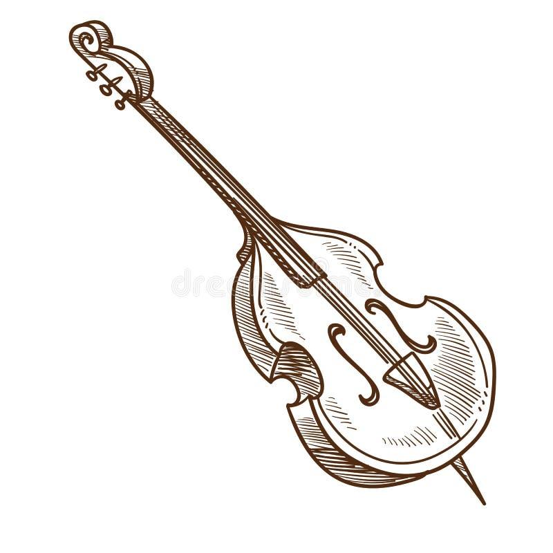 Kapacitet för musik för för musikinstrumentvioloncell eller violoncell klassisk stock illustrationer
