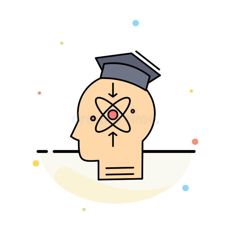 kapacitet huvud, människa, kunskap, för färgsymbol för expertis plan vektor stock illustrationer