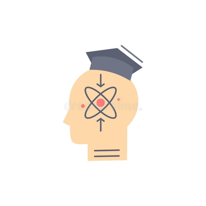 kapacitet huvud, människa, kunskap, för färgsymbol för expertis plan vektor vektor illustrationer