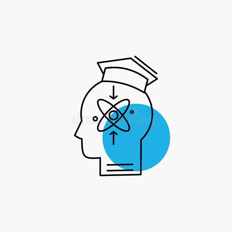 kapacitet huvud, m?nniska, kunskap, expertislinje symbol royaltyfri illustrationer