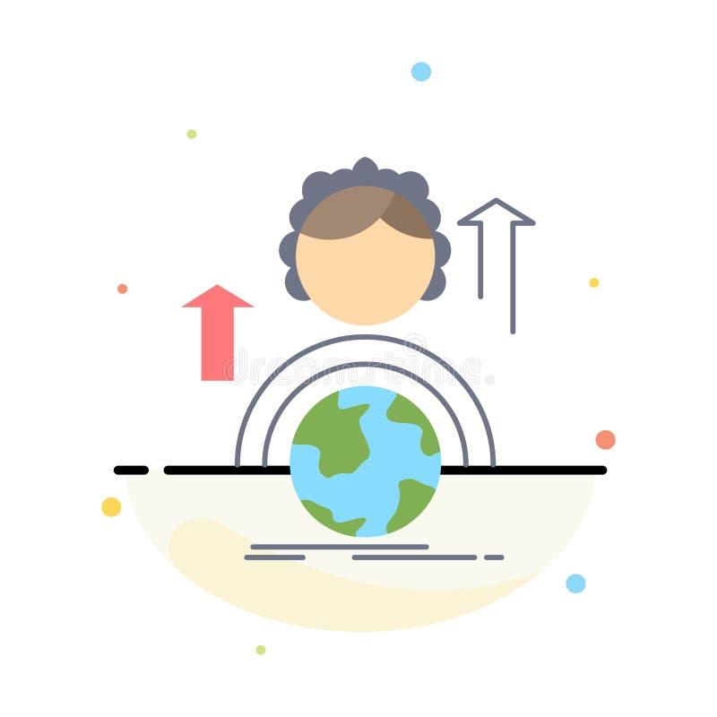 kapaciteter utveckling, kvinnlig, global online-plan färgsymbolsvektor stock illustrationer