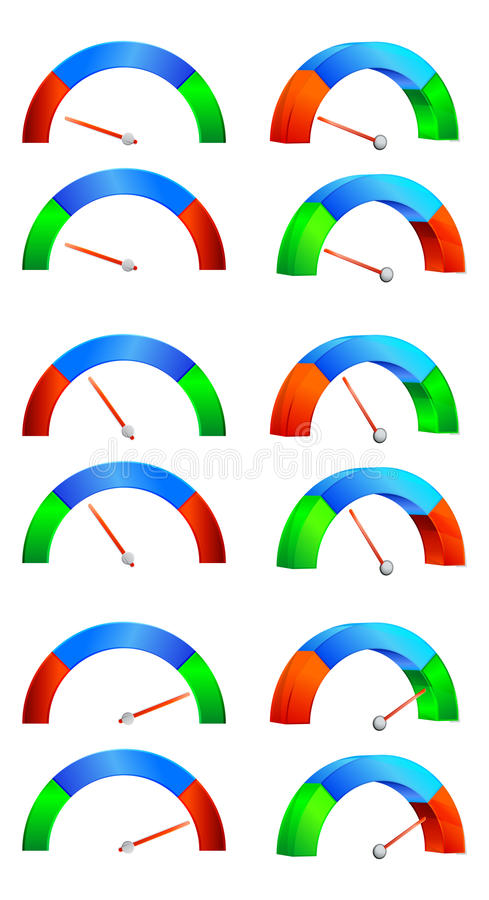 Kapacitetsmeter stock illustrationer