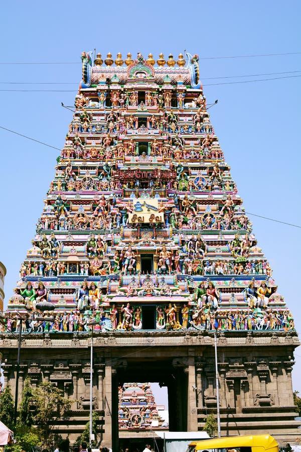Kapaleeshwarar寺庙金奈 图库摄影