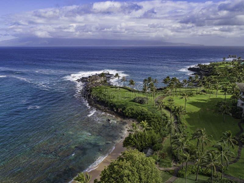 Kapalua-Bucht Maui Hawaii stockfotografie