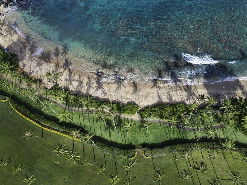 Kapalua fjärd Maui Hawaii royaltyfri fotografi