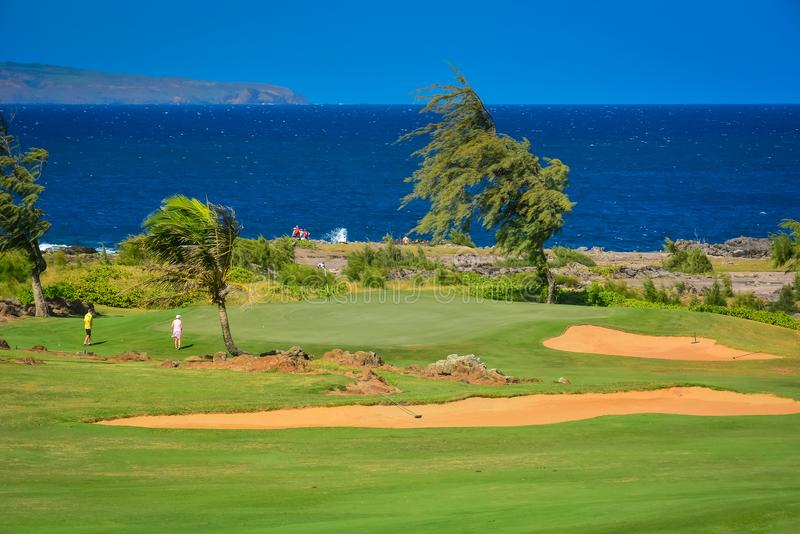 Kapalua, Maui, isole hawaiane fotografia stock libera da diritti
