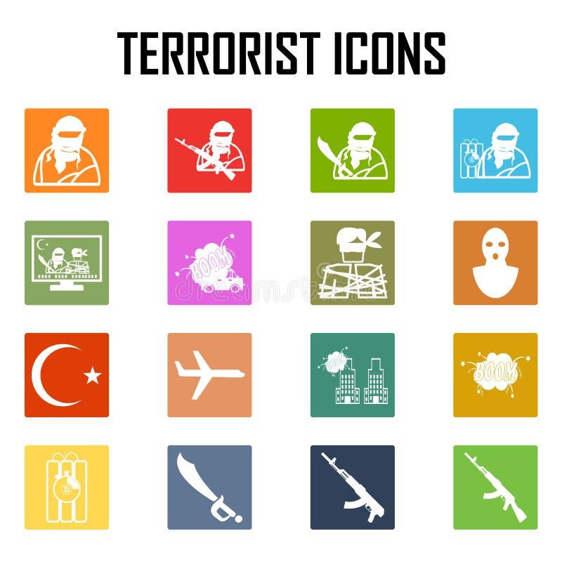 KapareterroristAirplane bilbomb, vektorsymbol royaltyfri illustrationer