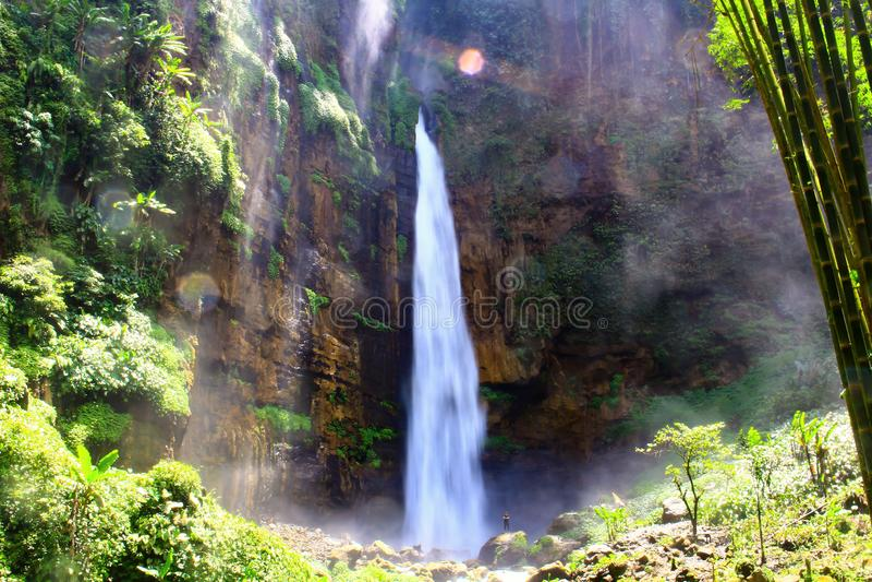 Kapas Biru Waterfall - Indonesia. Kapas Biru Waterfall Lumajang Indonesia stock photos