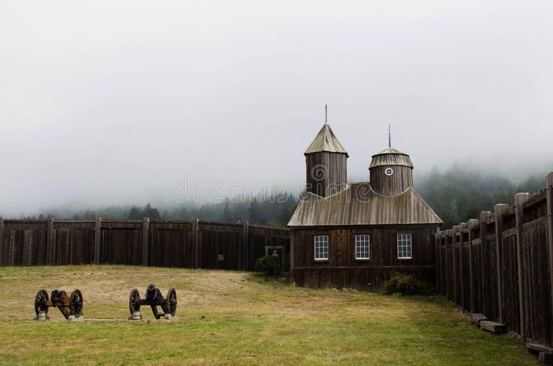 Kapel bij Fort Ross in Sonoma-Provincie stock fotografie