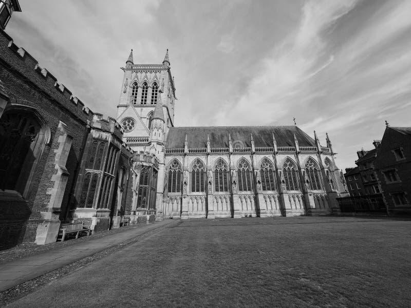 Kapel bij St John Universiteit in zwart-wit stock afbeeldingen