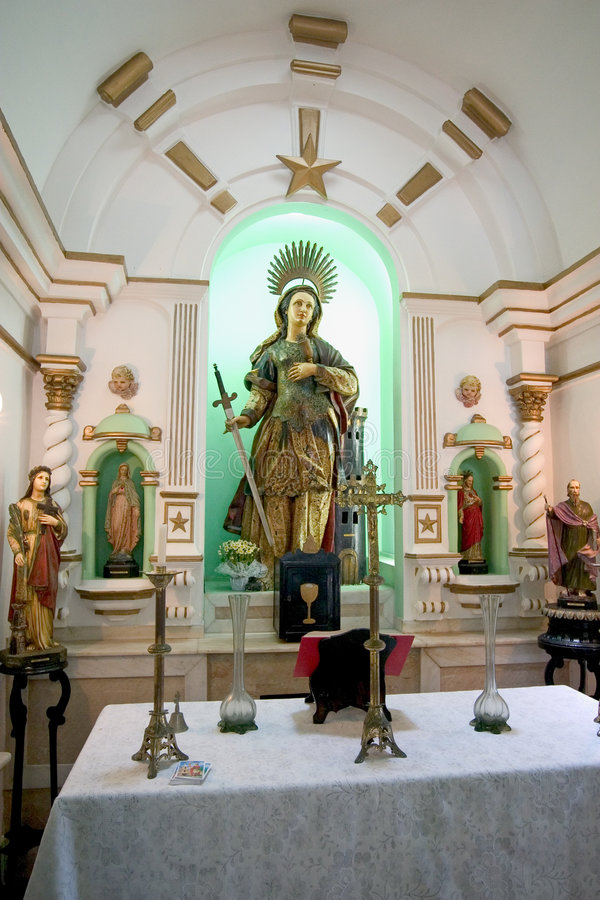 Kapel in Fortaleza DE Santa Cruz royalty-vrije stock afbeelding
