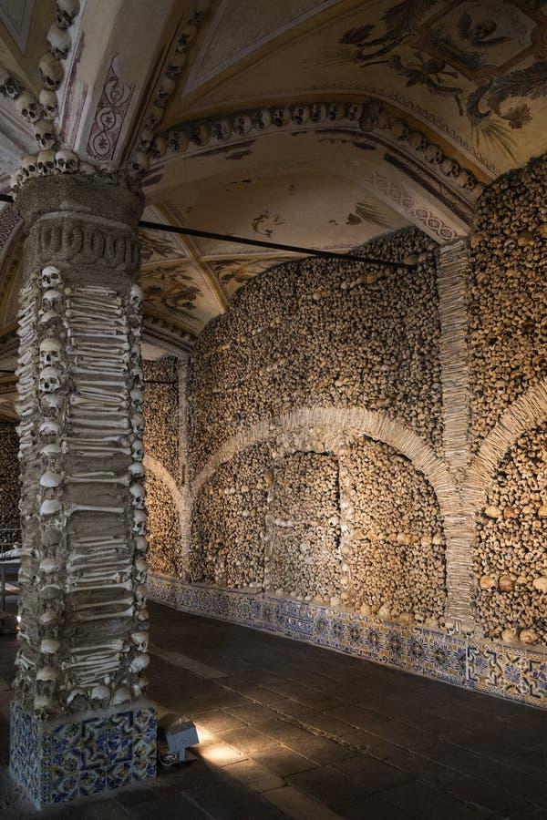 Kapel van Beenderen - Evora - Portugal royalty-vrije stock fotografie