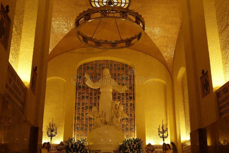 Kapel van Cristo Rey, Leon, Guanajuato Horizontaal formaat stock afbeelding