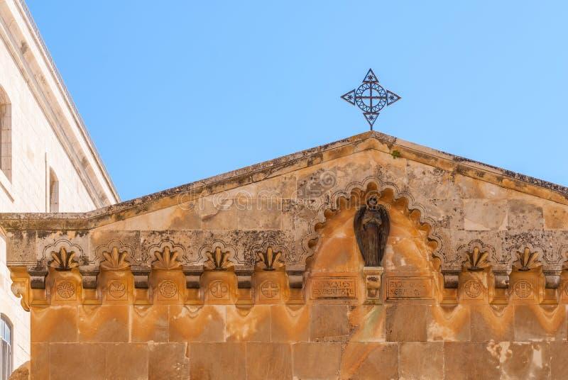 Kapel van Flagellatie via Dolorosa stock fotografie
