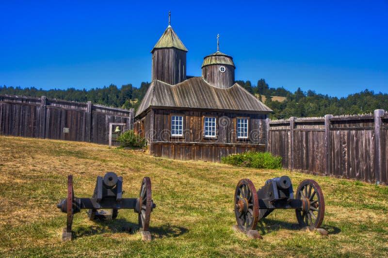 Kapel van Fort Ross royalty-vrije stock afbeelding