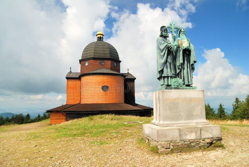 Kapel van heilige Konstantin en Methodius stock fotografie