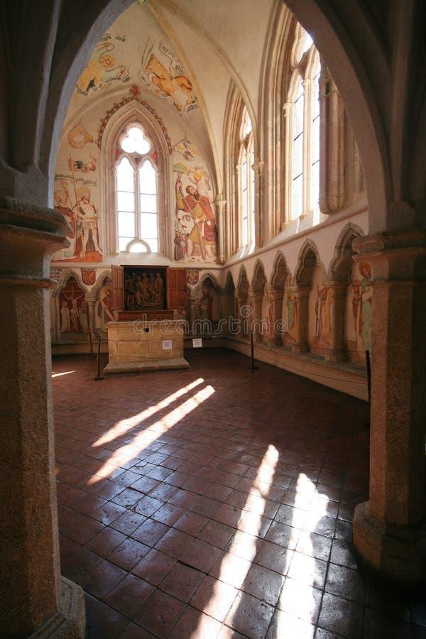 Kapel van het kasteel Zvikov stock afbeeldingen