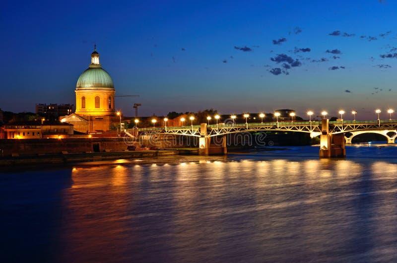 Kapel van Saint Joseph en Heilige Pierre Bridge royalty-vrije stock fotografie