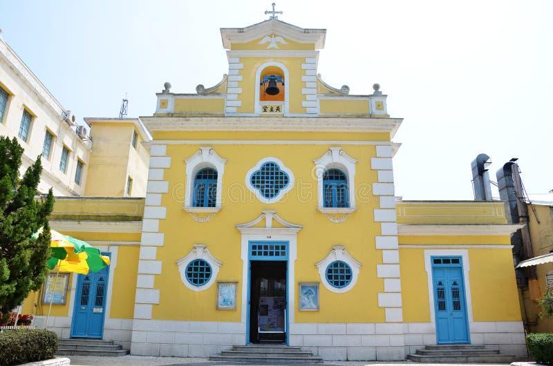 Kapel van St Francis Xavier in Coloane-eiland Macao stock fotografie