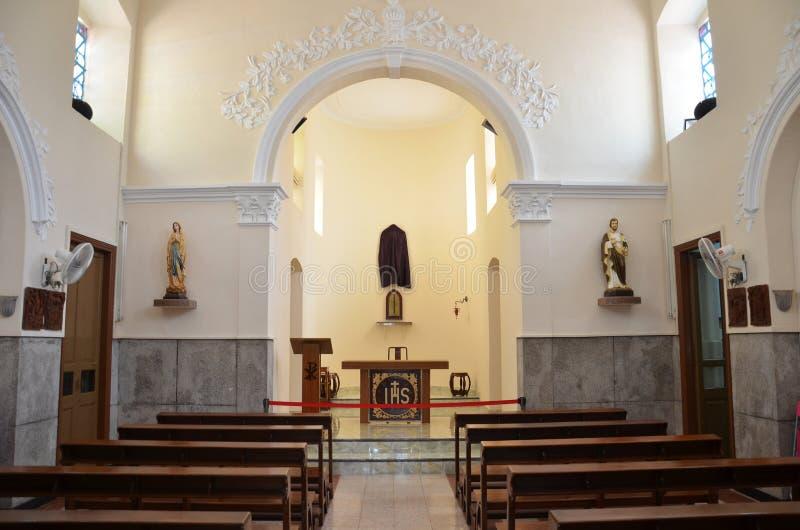Kapel van St Francis Xavier in Coloane-eiland Macao royalty-vrije stock foto's