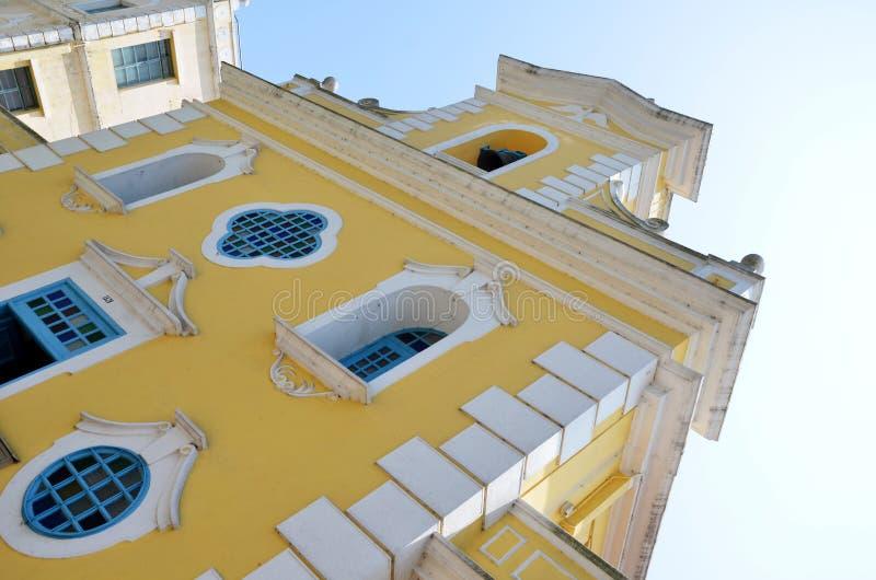 Kapel van St Francis Xavier in Coloane-eiland Macao royalty-vrije stock afbeelding