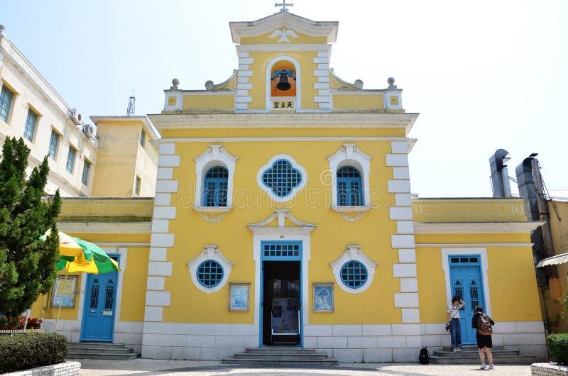 Kapel van St Francis Xavier in Coloane-eiland Macao royalty-vrije stock fotografie