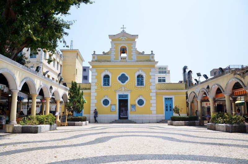Kapel van St Francis Xavier in Coloane-eiland Macao royalty-vrije stock foto