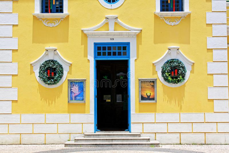 Kapel van St Francis Xavier, Macao, China stock fotografie