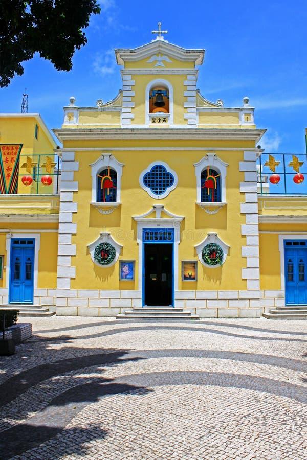 Kapel van St Francis Xavier, Macao, China royalty-vrije stock foto