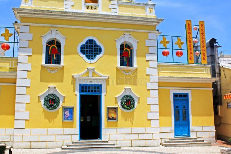 Kapel van St Francis Xavier, Macao, China royalty-vrije stock afbeeldingen
