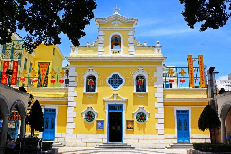 Kapel van St Francis Xavier, Macao, China stock afbeeldingen