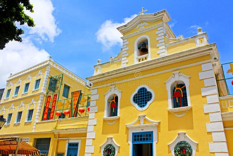 Kapel van St Francis Xavier, Macao, China stock foto