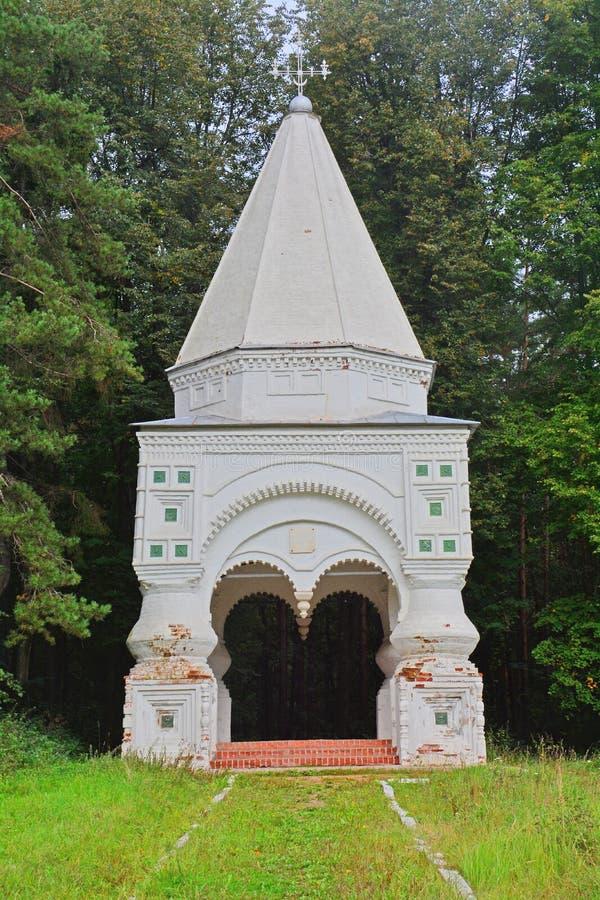 Kapelkruis dichtbij pereslavl-Zalessky, Rusland royalty-vrije stock afbeeldingen